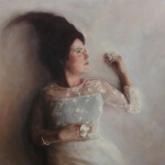 Kvinne med Orkidè by Odin Borgen