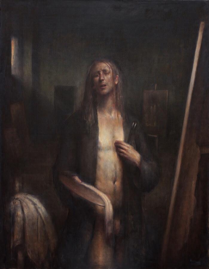 Self Portrait with Dyspnea by Sebastian Salvo