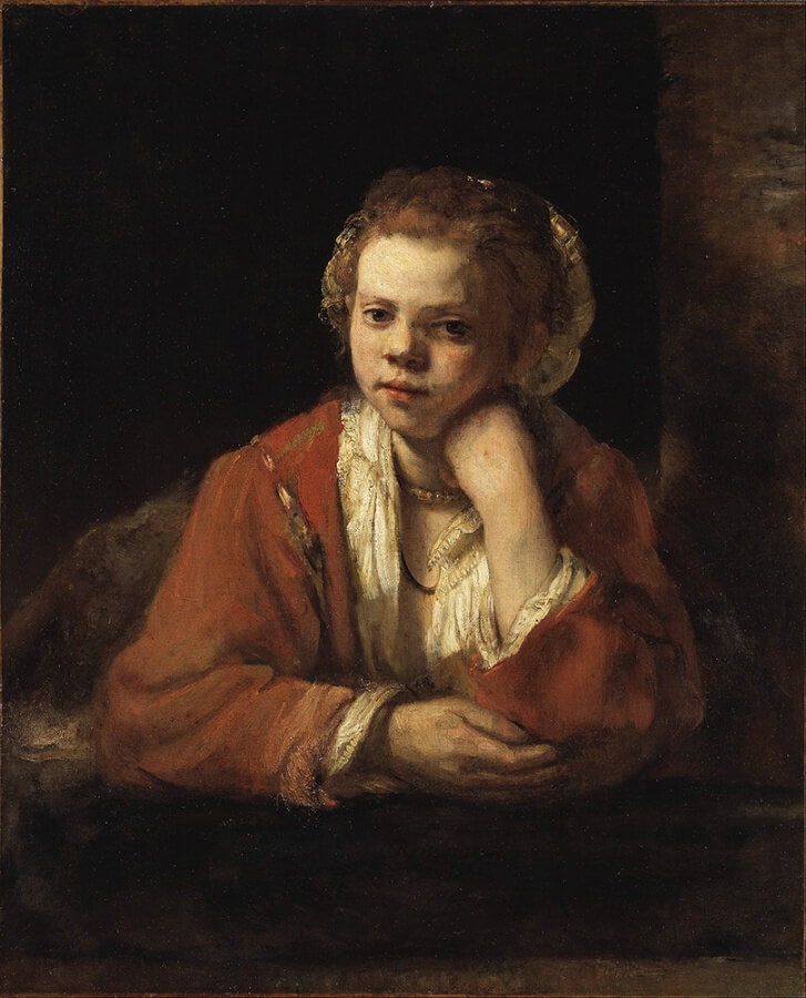 "Kitchen Maid - 1951, is said to be the first ""Late Rembrandt"""