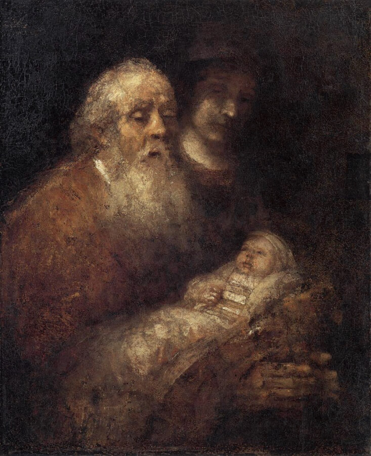 Simeon With the Infant Christ In The Temple - National Museum, Stockholm - 1669
