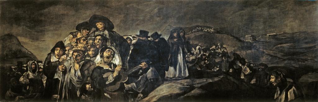 """Francisco de Goya: """"A Pilgrimage to San Isidro"""" (1819–23) 140cm x 438cm. Museo del Prado, Madrid"""