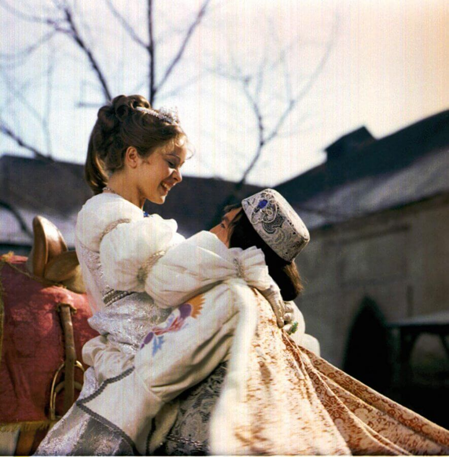 The Prince recognizes Cinderella (from the ending scene).